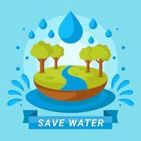 economizar projeto de água vetor