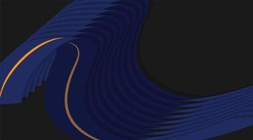 desenho de fundo de vetor abstrato com formas paralelas onduladas azuis