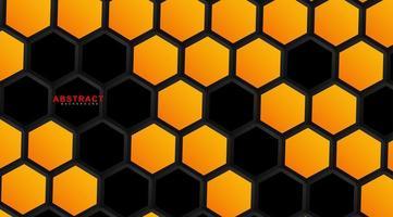 fundo de geometria hexagonal de vetor abstrato