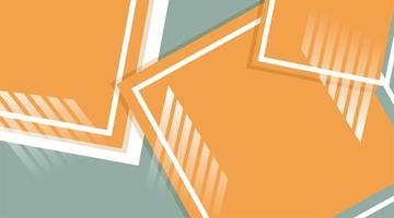 fundo abstrato do vetor. quadrado laranja com linhas sobrepostas vetor