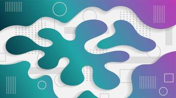 formas e ondas coloridas dinâmicas. banner abstrato gradiente com formas fluidas fluidas. fundo do vetor