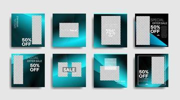 banner web quadrado de promoção moderna para ilustração de design vetorial de mídia social