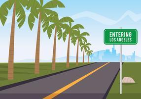 Estrada para Los Angeles vetor