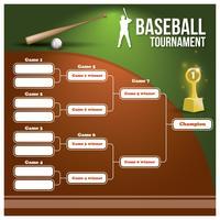 Suporte de torneio de beisebol vetor