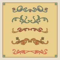 Vector Art Nouveau Elements