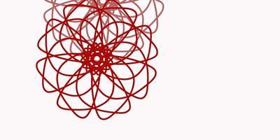 layout natural de vetor rosa claro, vermelho com flores.