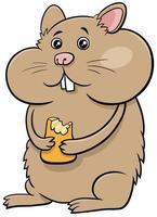 desenho animado hamster personagem animal em quadrinhos vetor