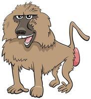 ilustração de desenho animado de macaco babuíno