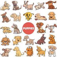 desenho animado cachorros cães personagens de quadrinhos grande conjunto