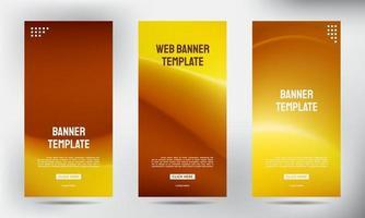 conjunto de banners de brochura de negócios com malha marrom simples vetor