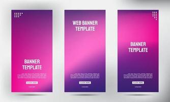 conjunto de banners de panfleto de negócios enrolados desfocados vetor
