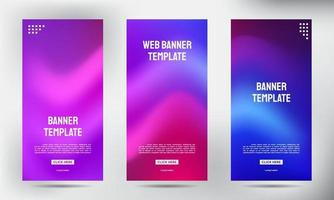 conjunto de fluxo de cores de malha suave enrole banners de panfleto de brochura comercial vetor