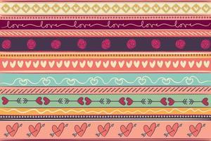 textura de fundo padrão de amor para o dia dos namorados vetor