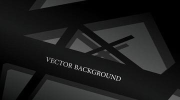design de materiais vetoriais. fundo abstrato com cor preta e sombras claras