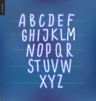 alfabeto brilhante neon vetor