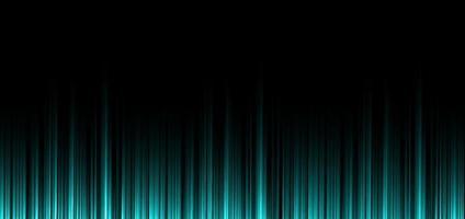 Resumo verde hortelã listra linhas verticais luz sobre fundo preto. vetor