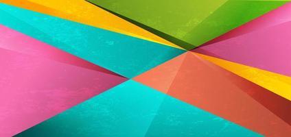 fundo colorido textura vibrante do triângulo geométrico abstrato. vetor