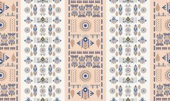 padrão ornamental de motivos étnicos e tribais. impressão colorida pastel para têxteis.