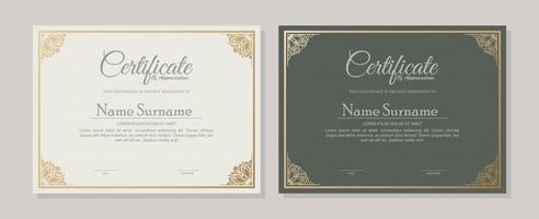 conjunto de modelo de prêmio de certificado clássico