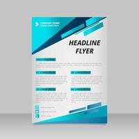 modelo de folheto de negócios azul abstrato vetor
