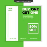 mídia social compre um e leve um modelo. fácil de usar. vetor premium