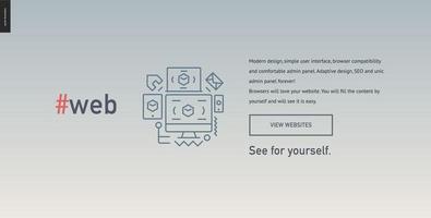 modelo de site de bloco de web design vetor