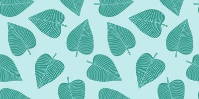 padrão sem emenda artístico com folhas abstratas. design moderno para papel, capa, tecido, decoração de interiores e outros.