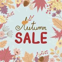 banner de venda de outono vetor