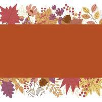 desenho de banner de outono