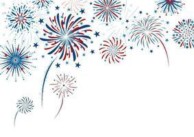 desenho de fogos de artifício em ilustração vetorial de fundo branco vetor