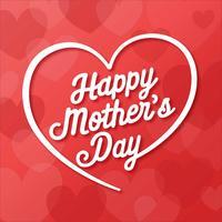 Cartão feliz do dia de mães vetor