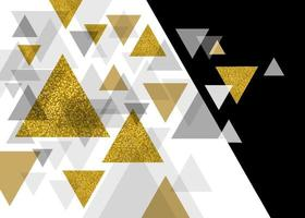 desenho abstrato de luxo de ilustração vetorial de triângulo vetor