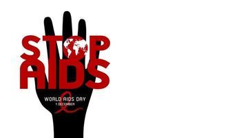 projeto do dia mundial da aids em ilustração vetorial de fundo branco