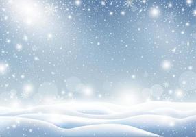 fundo de inverno de neve caindo ilustração em vetor cartão de natal