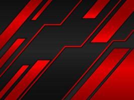 fundo abstrato com design de conceito de metal preto e vermelho