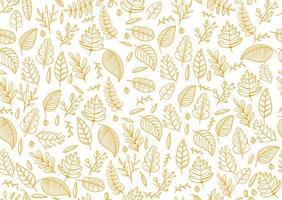 design de outono com folhas tropicais simples padrão sem emenda