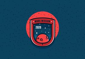 Vector de Patch de Missão a Março
