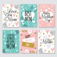 Cartão feliz do dia das mães vetor