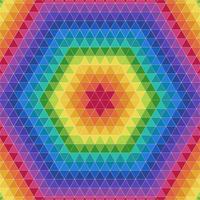 Fundo de padrões geométricos triangulares coloridos vetor