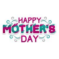 Cartão feliz da tipografia do dia das mães vetor