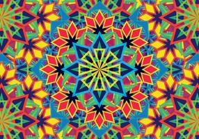 Padrão colorido de caleidoscópio vetor