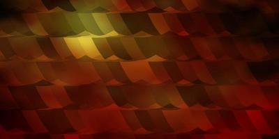 layout de vetor multicolorido escuro com formas hexagonais.