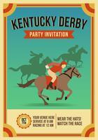 Convite do partido de Kentucky Derby do vintage vetor
