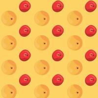 pôster do dia mundial da comida com padrão de pêssego e cerejas vetor
