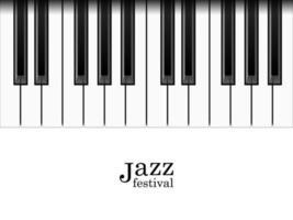 teclas de piano realistas e texto de festival de jazz vetor