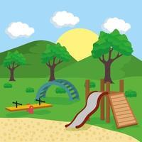 cena de playground ao ar livre vetor