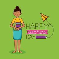 projeto de celebração do dia do professor vetor