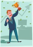 Campeões de empresários vetor