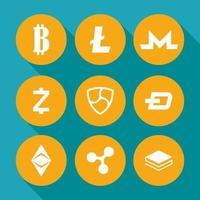 conjunto de ícones de finanças, tecnologia e negócios