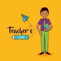 feliz dia do professor projeto de celebração vetor